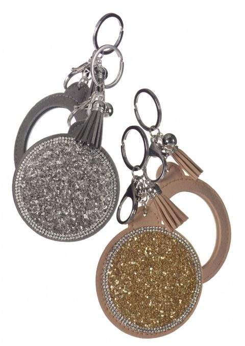 MIRROR KEY FOB GOLD